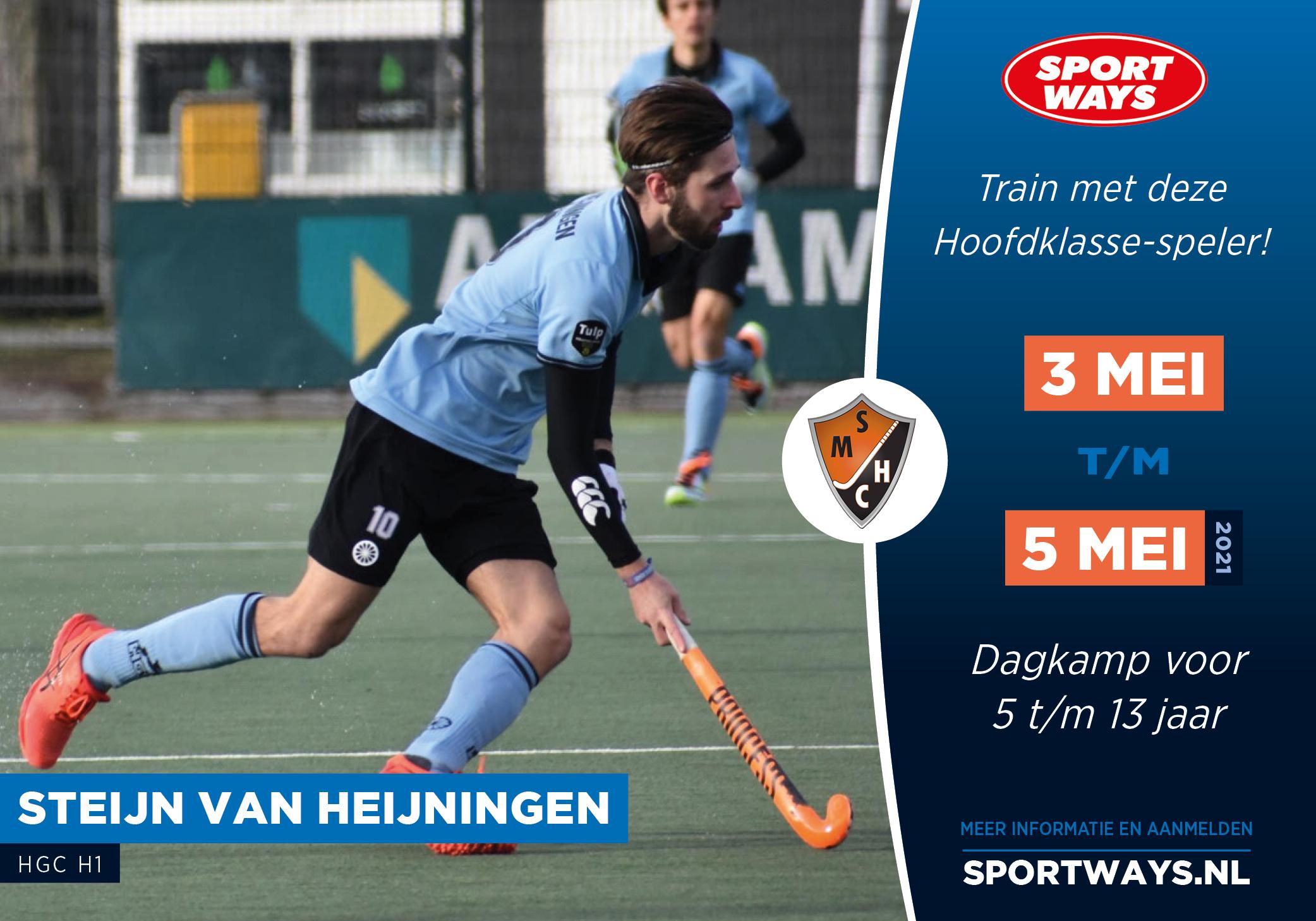 Ga je mee het hockeyveld op met Steijn van Heijningen?
